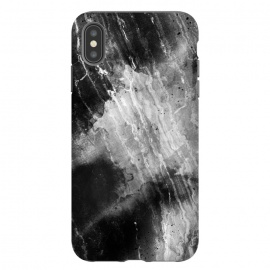 iPhone Xs Max  Black gray faded marble painting by