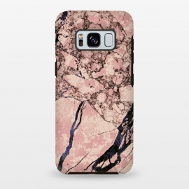 Galaxy S8 plus  Pink marble with dark cracks texture by