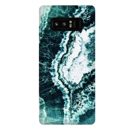 Galaxy Note 8  Emerald green agate marble art by