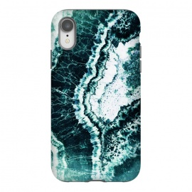 iPhone Xr  Emerald green agate marble art by Oana