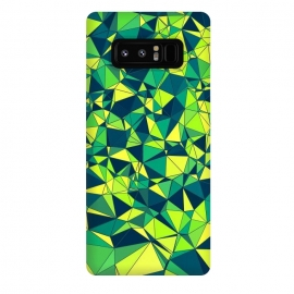 Galaxy Note 8  Green Low Poly Design by Art Design Works