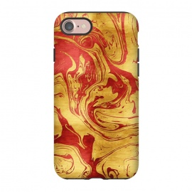 iPhone 8/7  Red Dragon Marble by Art Design Works
