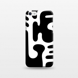 iPhone 5C  Shapes in Black by Majoih