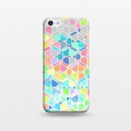 iPhone 5C  Rainbow Cubes and Diamonds by Micklyn Le Feuvre