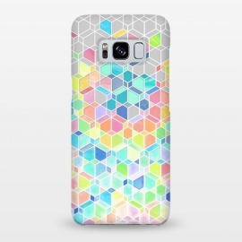 Galaxy S8+  Rainbow Cubes and Diamonds by Micklyn Le Feuvre