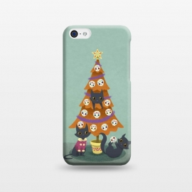 iPhone 5C  Meowy christmas sugarskulls by Laura Nagel