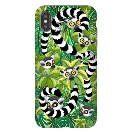 Lemurs of Madagascar on Rainforest  by BluedarkArt
