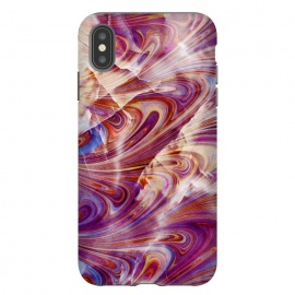 iPhone Xs Max  purple pink marble art by Oana