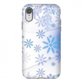 iPhone Xr  Blue icy snowflakes - Christmas illustration by Oana