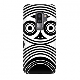 Galaxy S9+  scary owl eyes by TMSarts (scary ,owl ,scary owl ,owl eyes,tribal owl,geometric owl,owl art,owl drawing,decorative eye,fantastic ,abstract ,stylized ,elements)