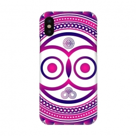 iPhone X  pink mandala owl by TMSarts