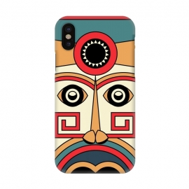 iPhone X  aztec mayan mask by TMSarts
