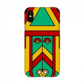 iPhone X  colorful aztec tribal by TMSarts