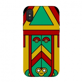 iPhone Xs / X  colorful aztec tribal by TMSarts