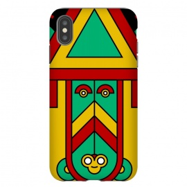 iPhone Xs Max  colorful aztec tribal by TMSarts