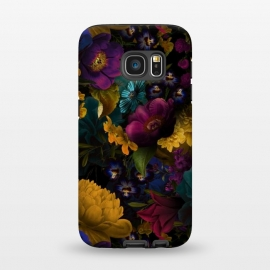 Galaxy S7  Night Dreams I by Utart (blossom, spring, flower, pink, nature, season, floral, petal, beautiful, bloom, flora, blooming, natural, beauty, botany, summer, springtime, botanical, romantic, vintage, flowers, retro, pattern, girly, trendy, modern, fashion, utart, woman, women, feminine, girl, girls, chic, victorian, tropical)