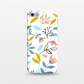 iPhone 5/5E/5s  Proud Florals by Uma Prabhakar Gokhale (graphic design, pattern, nature, botanical, fall, floral, blossom, bloom, seamless, repeating, leaves)