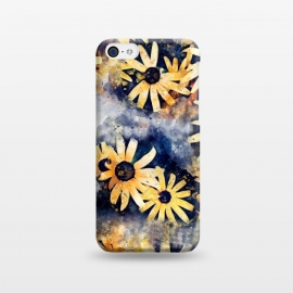 iPhone 5C  Yellow Floral by Creativeaxle