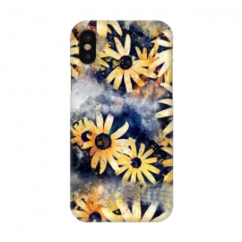 iPhone X  Yellow Floral by Creativeaxle
