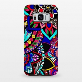 Galaxy S8+  mandala design henna ?design colorful decorative doodling by Josie George