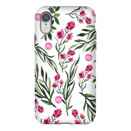 iPhone Xr  spring blossom small flowers watercolour design pattern  by Josie George