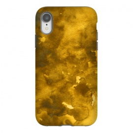 iPhone Xr  Rustic Gold textured watercolour by Josie George