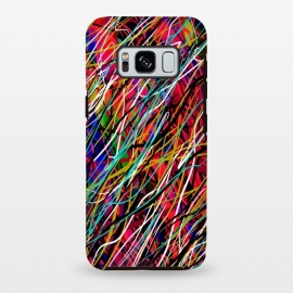 Galaxy S8+  abstract lines art multicolour pop art  by Josie George