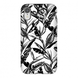 iPhone Xr  Black and White Strelitzia by