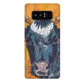 Galaxy Note 8  Cow in Yellow by Lotti Brown