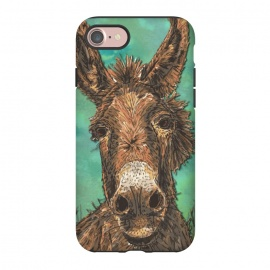 iPhone 8/7  Little Brown Donkey by Lotti Brown (donkey,animal,pet)