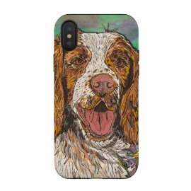 iPhone Xs / X  Spaniel by Lotti Brown (spaniel,springer spaniel,dog,dogs,animal,pet)