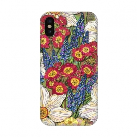iPhone X  Spring Flowers by Lotti Brown