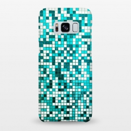 Galaxy S8+  Pool Tiles by Uma Prabhakar Gokhale (graphic design, pattern, pool, swim, swimming, summer, water, waves, blue, ocean, sea, geometric, abstract)