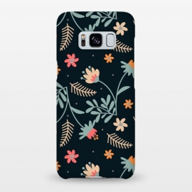 Galaxy S8+  Dark Sweetness by Uma Prabhakar Gokhale (graphic design, pattern, floral, nature, dark, fall, botanical, cute, sweet, feminine, blossom, garden, bloom)