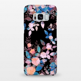 Galaxy S8+  Japanese painted roses on black by Oana