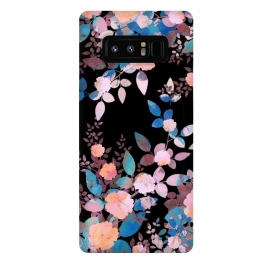 Galaxy Note 8  Japanese painted roses on black by Oana