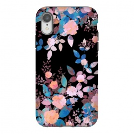 iPhone Xr  Japanese painted roses on black by