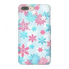iPhone 8/7 plus  Pink blue metallic snowflakes by