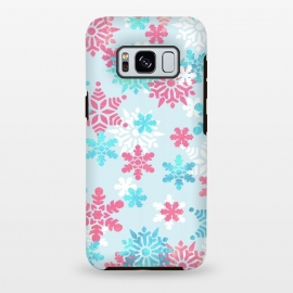 Galaxy S8+  Pink blue metallic snowflakes by Oana