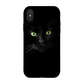 iPhone Xs / X  Cat, green eyes by