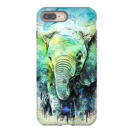 watercolor elephant by Ancello