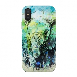 iPhone Xs / X  watercolor elephant by Ancello