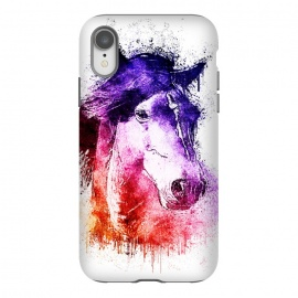 iPhone Xr  watercolor horse by Ancello
