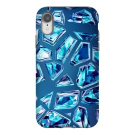 iPhone Xr  Blue Shattered Crystals by