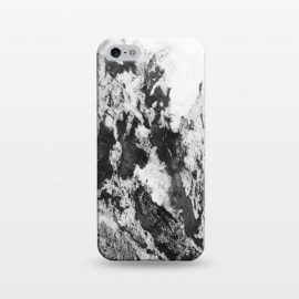 iPhone 5/5E/5s  Black and White Marble Mountain I by amini54