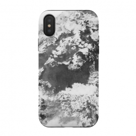 iPhone Xs / X  Black and White Marble Mountain II by amini54