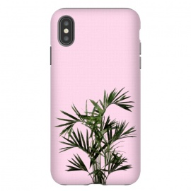 iPhone Xs Max  Palm Plant on Pastel Pink Wall by amini54