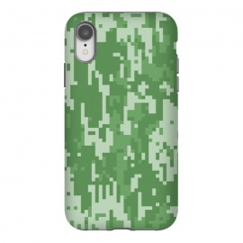 iPhone Xr  8 Bit Green Cammo  by Carlos Maciel