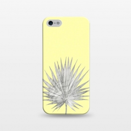iPhone 5/5E/5s   White Marble Fan Palm Leaf on Yellow Wall by amini54