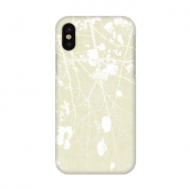 iPhone X   Foliage on Ivory by